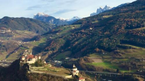 Blick auf Kloster Säben auf dem Rückweg