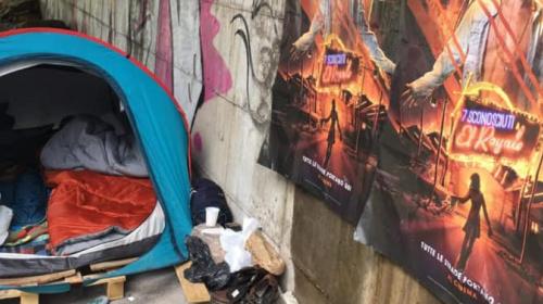 sgombero ponte senzatetto