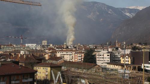 Incendio via Portici Bolzano