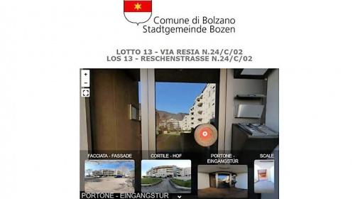 Asta immobiliare del Comune, tour online