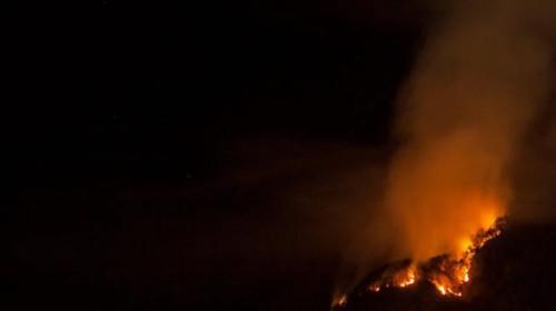 Die Flammen waren von Bozen aus gut zu sehen