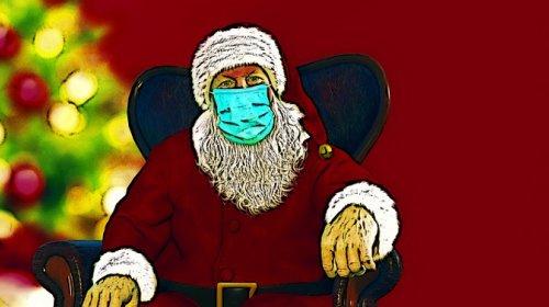 mercatino, Babbo Natale, mascherina, Covid, coronavirus