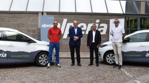 Da sx.: Stefano Buzzi, Johann Wohlfarter, Fabio Ghilardi, Mauro Buzzi Reschini