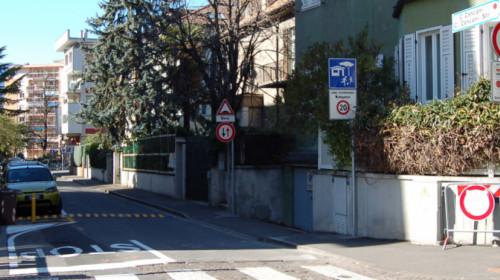 Incrocio fra via Orazio e via Zancani.