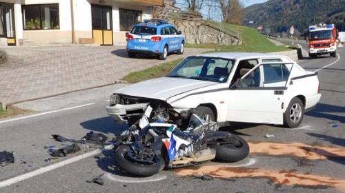 Motorradunfall Obervintl