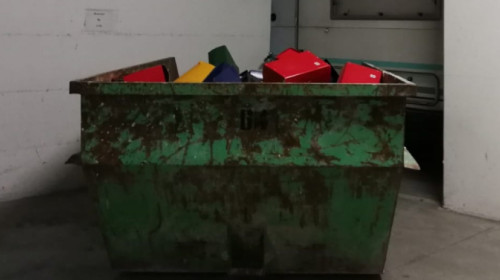 Container in Tiefgarage
