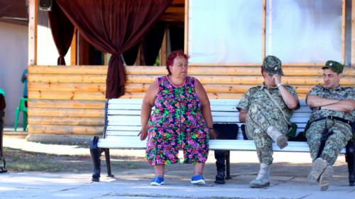 Russische Soldaten in Pitsunda