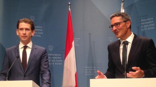 Sebastian Kurz und Arno Kompatscher