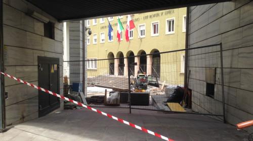 Landtag Baustelle