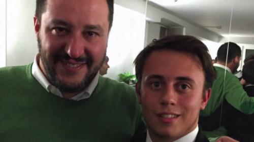 Kevin Masocco, Movimento Giovani Padani, insieme al segretario Matteo Salvini