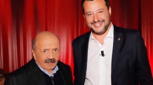 Maurizio Costanzo und Matteo Salvini