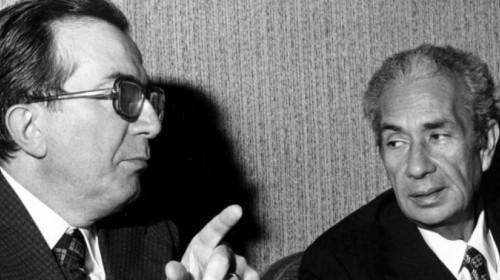 Giulio Andreotti e Aldo Moro