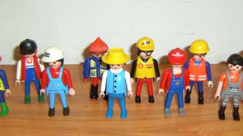 Playmobil-Arbeiter
