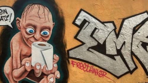 Gollum-Graffiti in Berlin