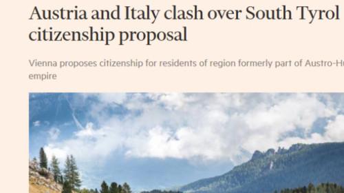 Titolo dell'articolo del Financial Times sul Doppio Passaporto
