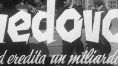"""Screen dal Trailer de """"Il Vedovo"""" di Dino Risi"""