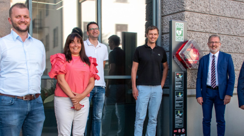 V.l. Lukas Innerhofer, Monika Schivari, Andrea Pavat, Luca Dellai, Mauro Marchi, Hannes Plank