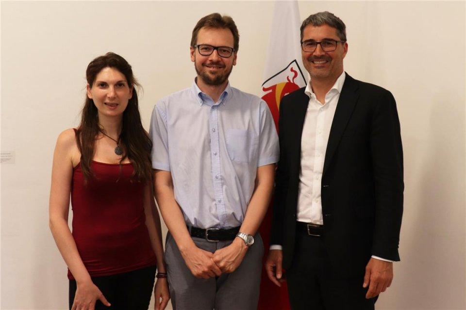Arianna Fiumefreddo, Andreas Unterkircher, Arno Kompatscher