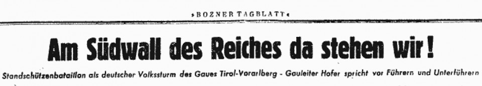 19. Oktober 1944 Südwall