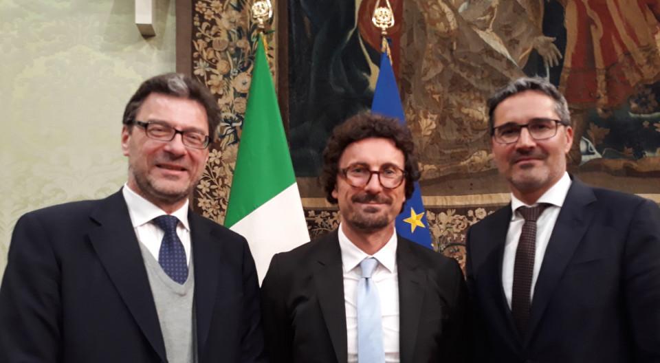 Giorgetti, Toninelli, Kompatscher