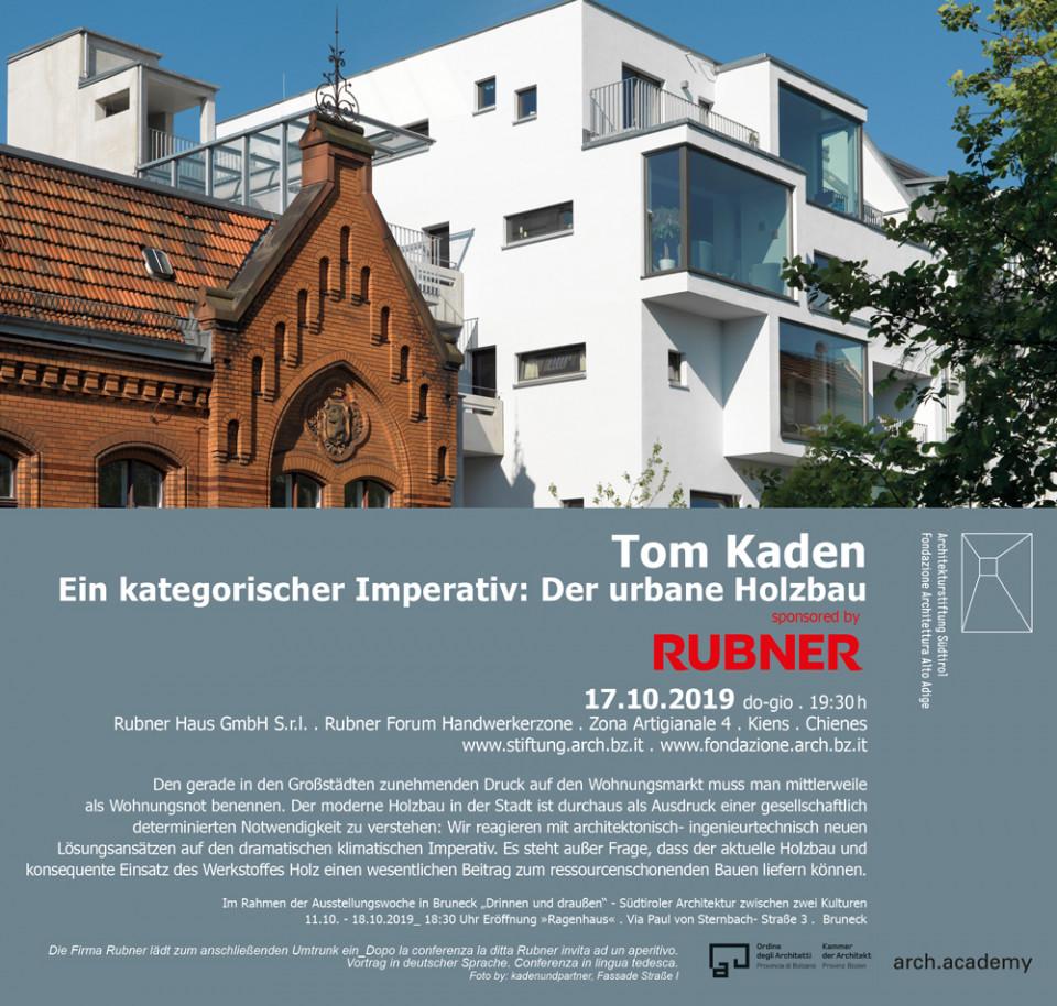 Ein kategorisches Imperativ: Der Urbane Holzbau von TOM KADEN
