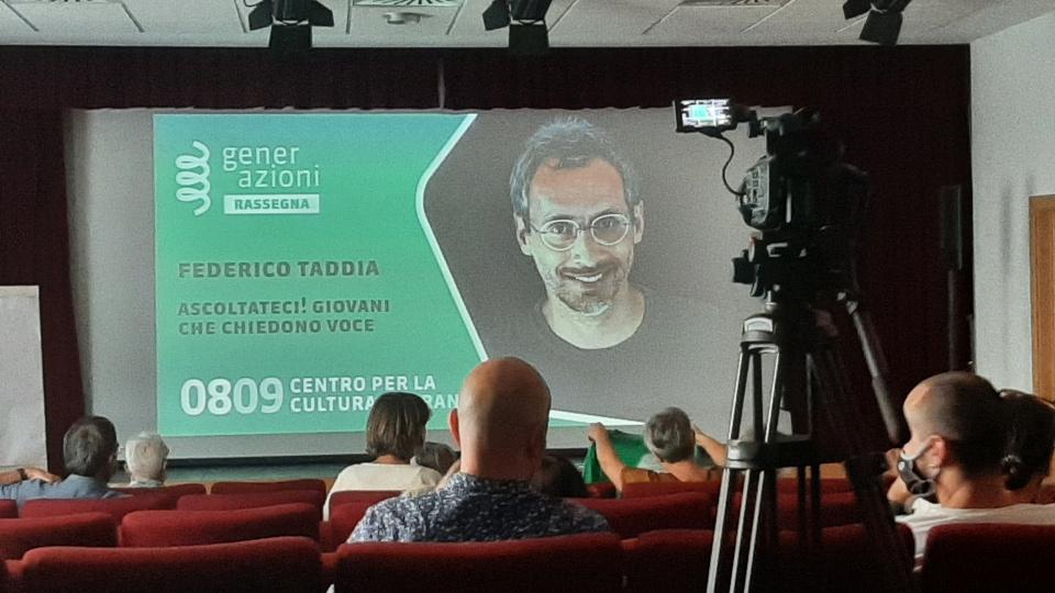 Federico Taddia al Centro per la Cultura Mairania di Merano