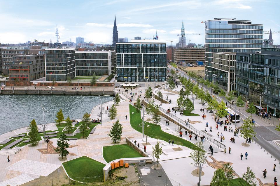Gestaltung des öffentlichen Raums Hafencity Hamburg