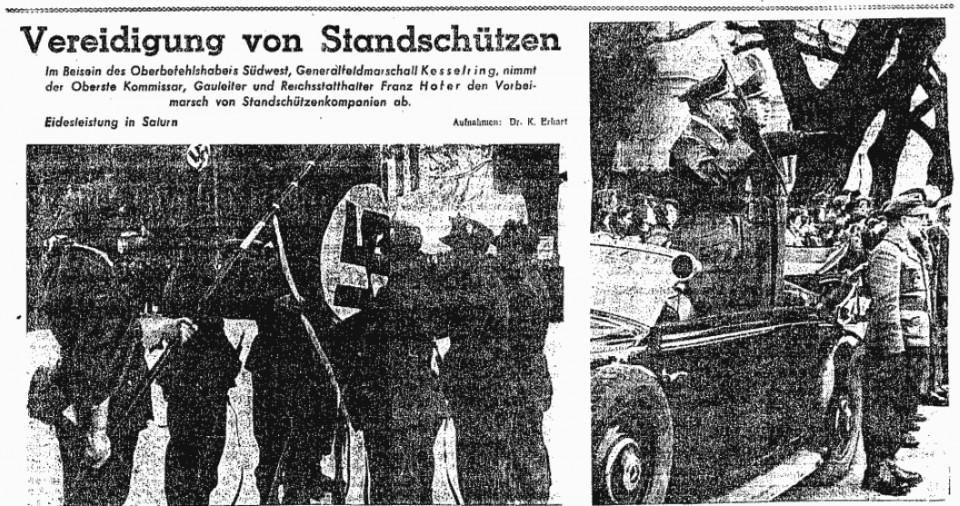 8. Jänner 1945 Vereidigung Salurn