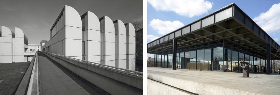 Bauhausarchiv von Walter Gropius & Neue Nationalgalerie von Mies van der Rohe. Beides in Berlin