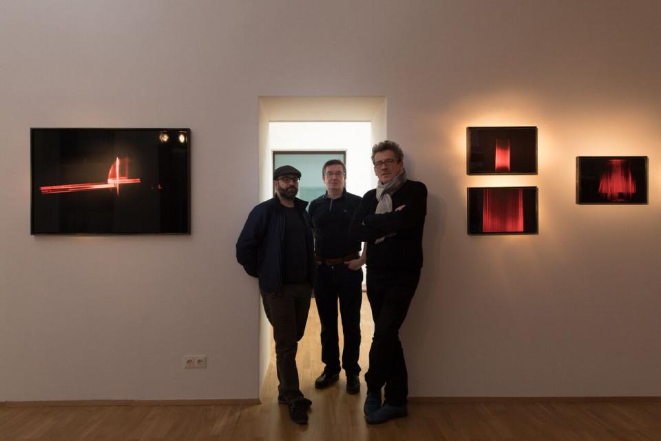 von rechts: Ben G. Fodor, Galerist Rudolf Leeb und Marcello Farabegoliew.jpeg