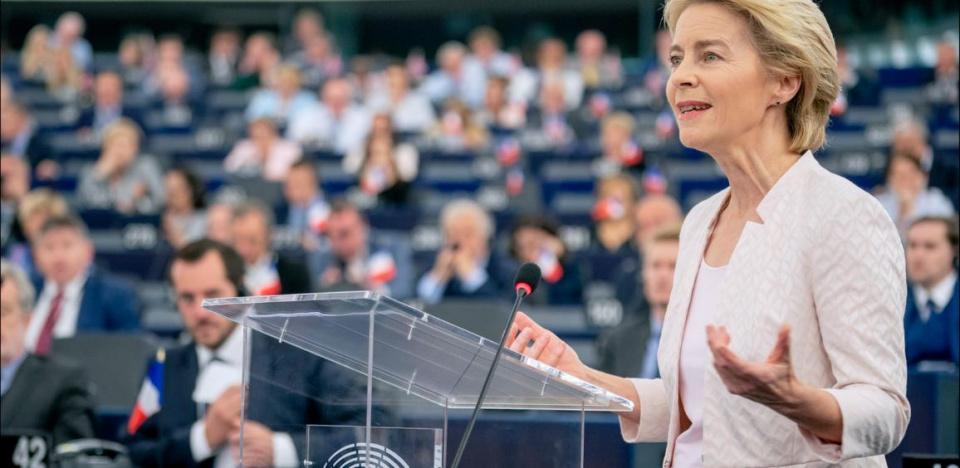 Ursula von der Leyen spricht vor dem Europäischen Parlament