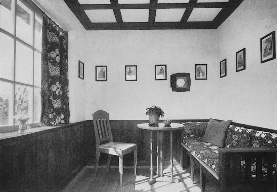 Marius und Hedwig Amonn, Veranda auf der Südseite des Landhauses Amonn in Oberbozen,1911