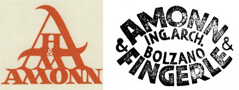 Stempel von Hedwig und Marius Amonn Architekten, gestaltet vom Künstler Anton Hofer / Stempel des Architekturbüros Amonn&Fingerle
