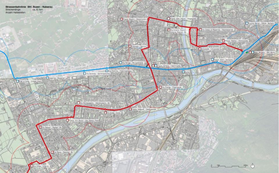 Karte Tram