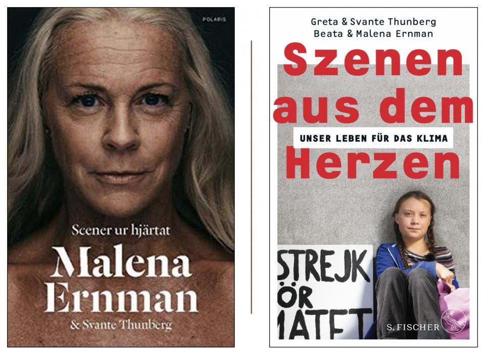 Cover der schwedischen und der deutschen Ausgabe: es handelt sich um dasselbe Buch, um denselben Inhalt!