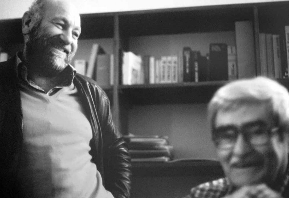 Marcello Bizzarri con Alberto Burri nel 1985