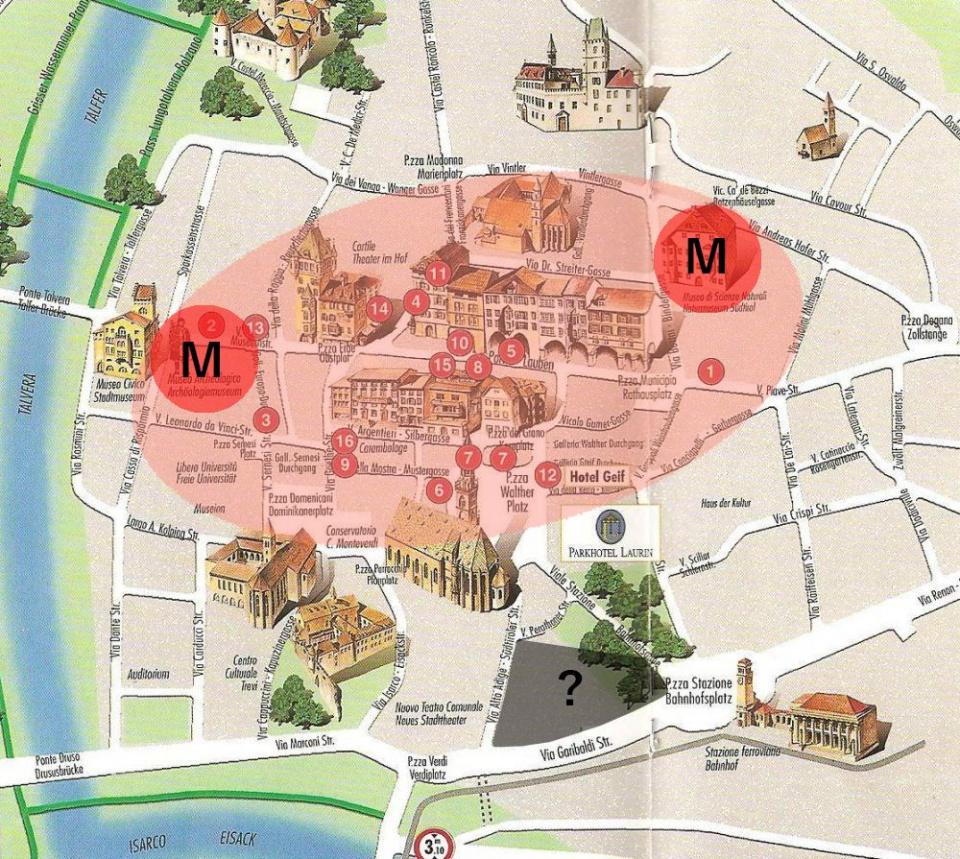 Die Bozner Altstadt mit seinen Magneten