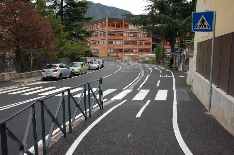 ciclabile via Santa Geltrude, Bolzano