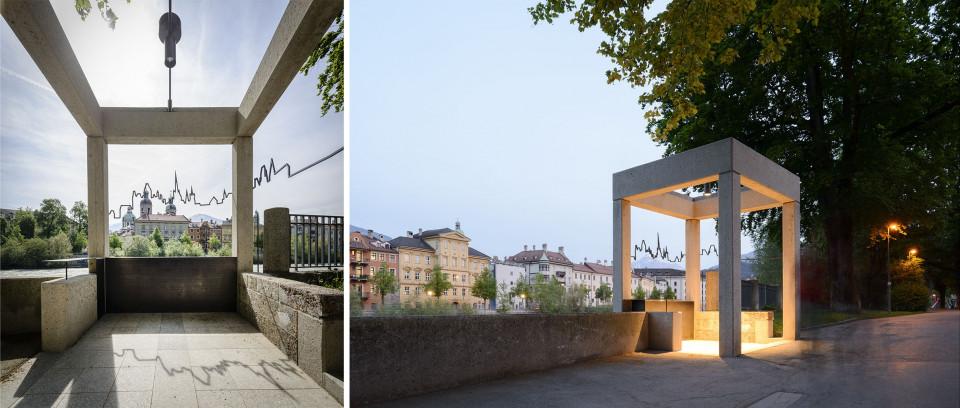 """2015 verwirklichte Katharina Cibulka in Zusammenarbeit mit der Architektin Silvia Boday in Innsbruck das Upcycling Projekt """"Dürer Blick"""""""