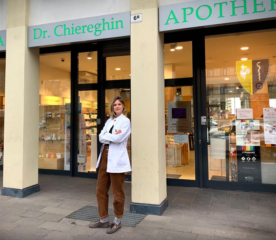 Bonvicini, Carlotta, farmacia