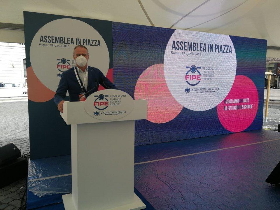 Il rappresentante della gastronomia nell'Unione/hds Diego Bernardi, a Roma