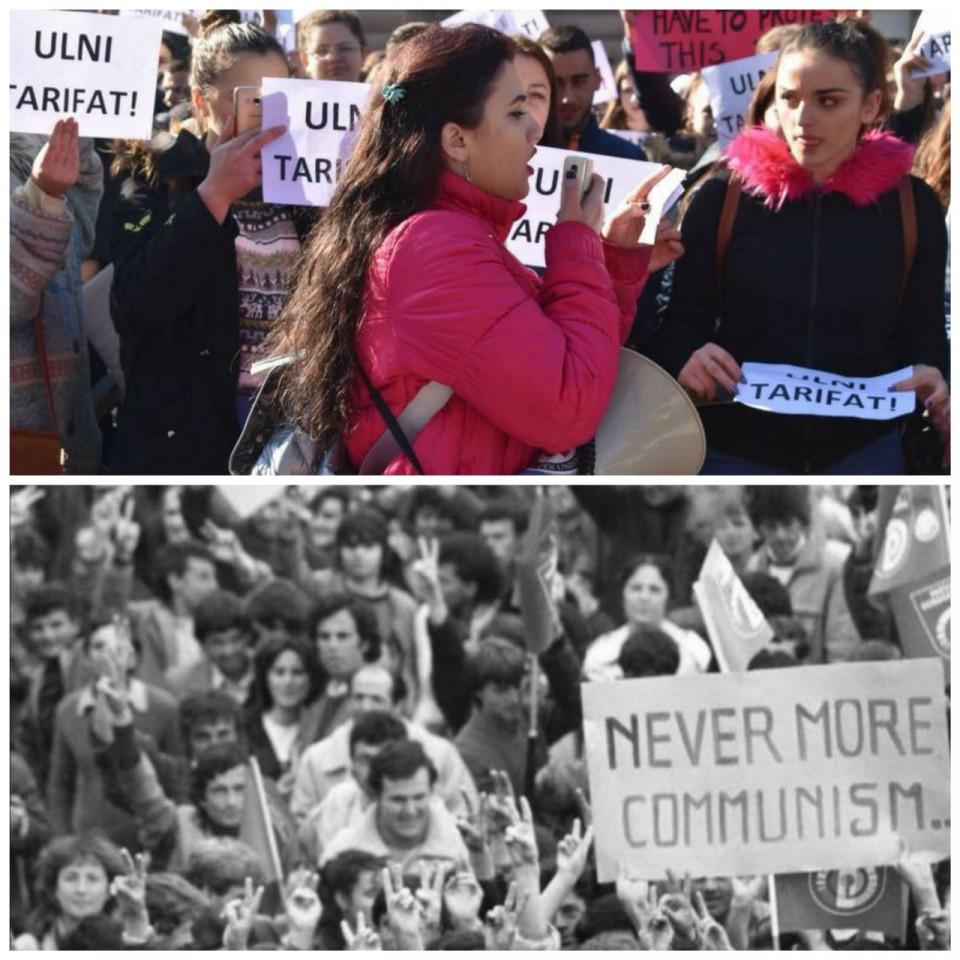 Gresa Hasa, le manifestazioni studentesche dicembre_2018_e_dicembre_1990.jpg