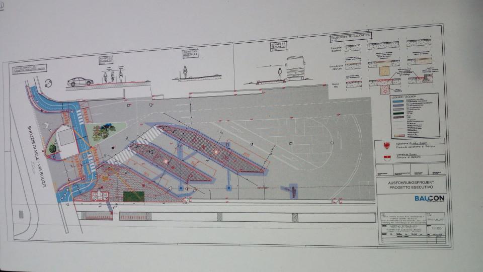 Comune Bz progetto stazione fermata bus