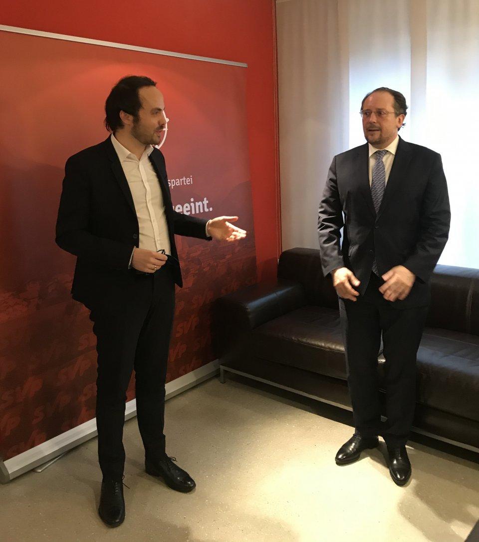 SVP und Österreichs Außenminister