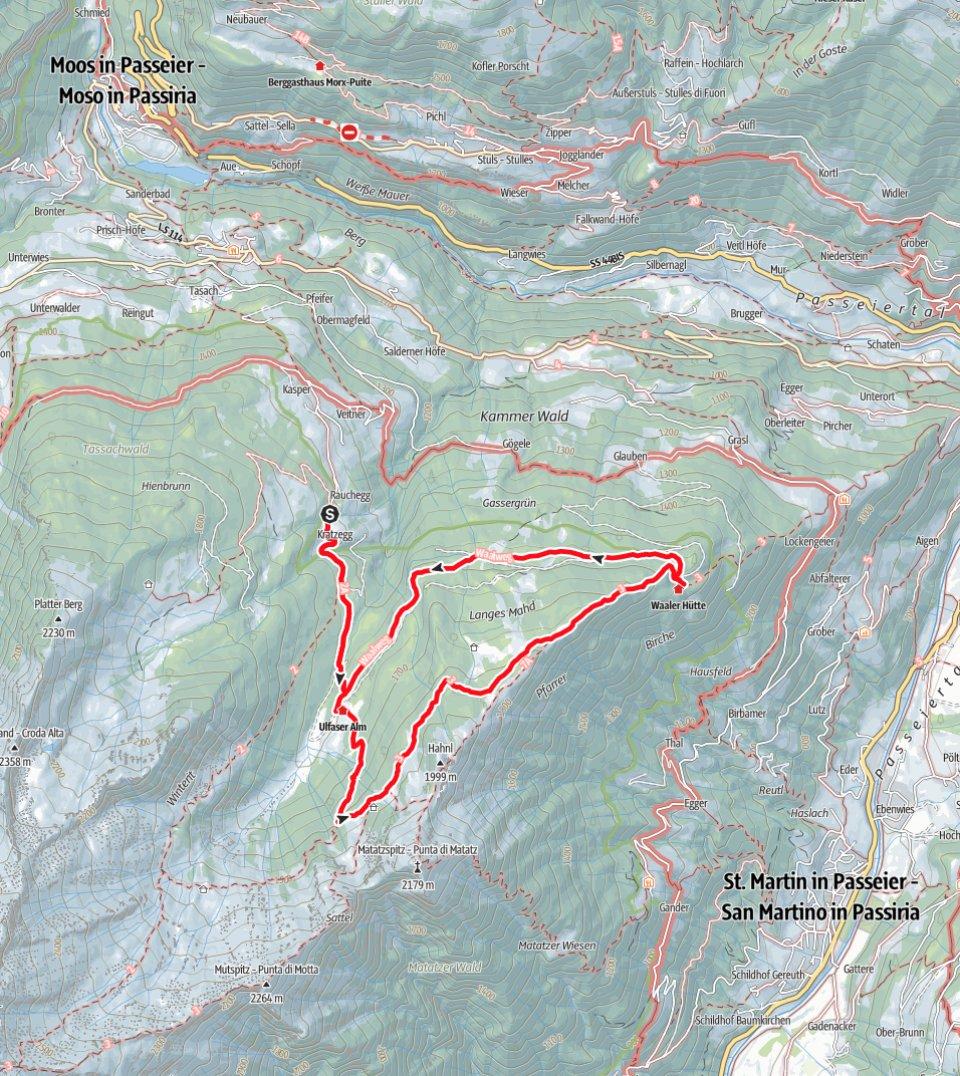 Kartenausschnitt Schartalm