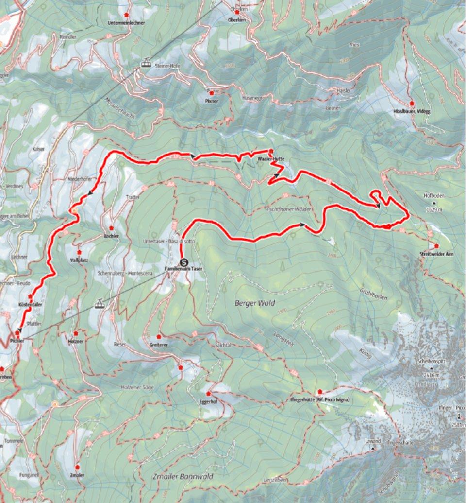 Kartenausschnitt_Taser_Verdinser Waalweg