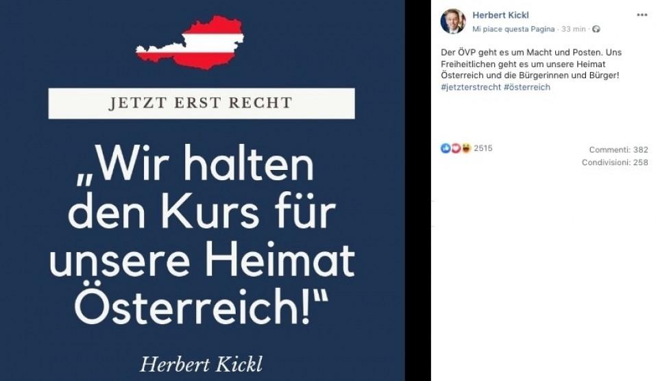 Kickl auf Facebook