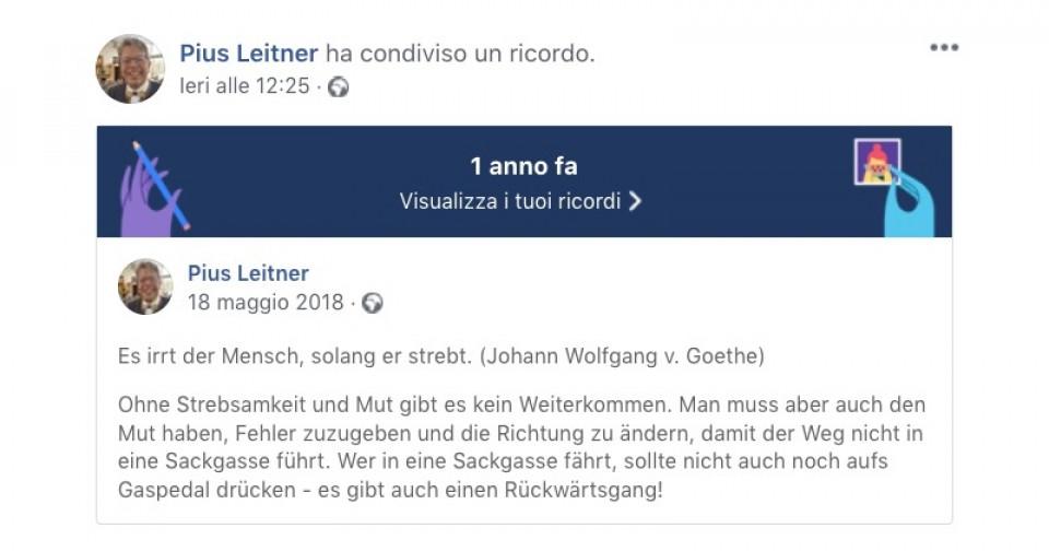 Pius Leitner auf Facebook