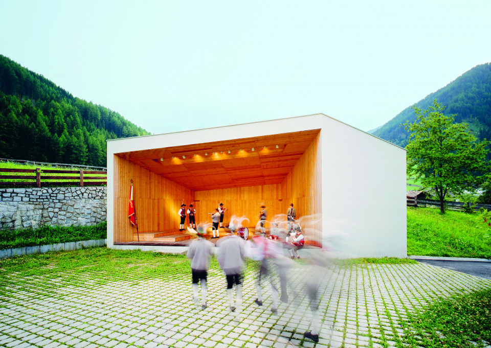 Musikpavillon in Weissenbach im Ahrntal