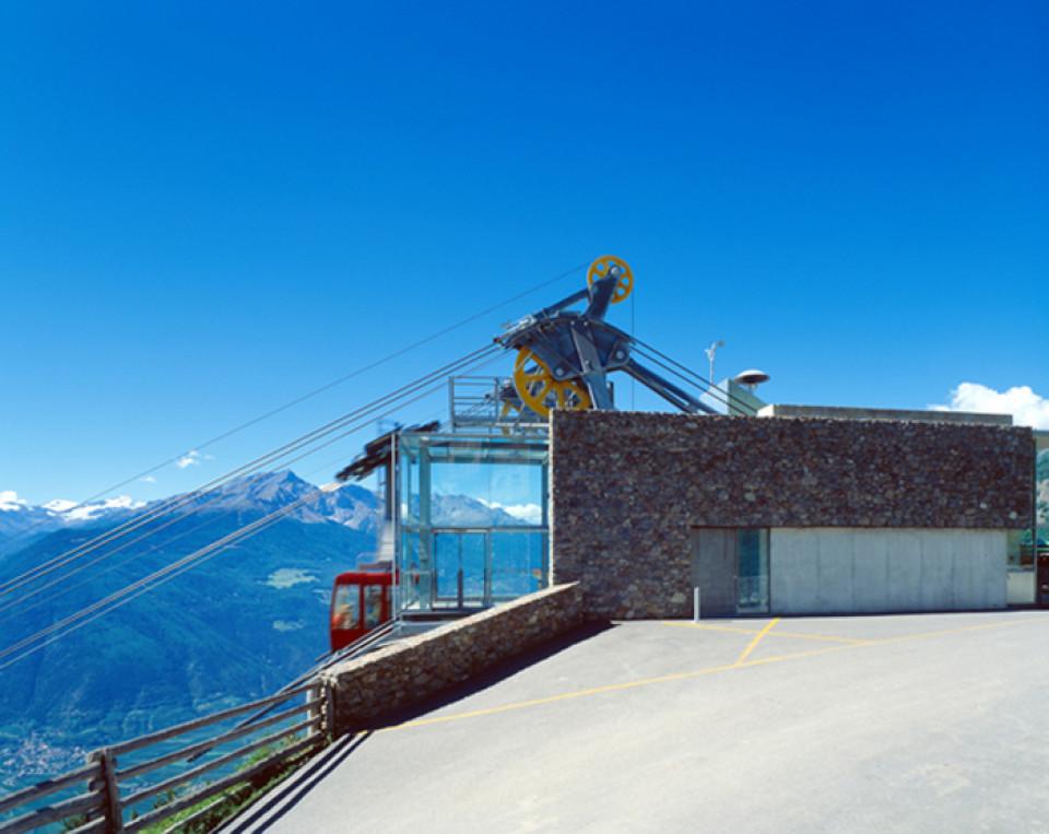 Neubau der Bergstation der Seilbahn St. Martin im Kofel, Latsch, Arch. Gapp Arnold